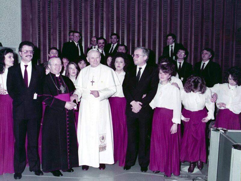 coro e papa wojtila